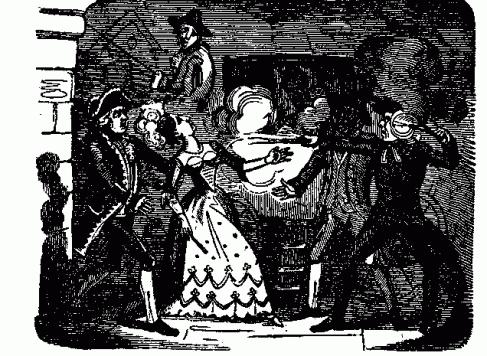 Death of Martha Ray from contemporary broadsheet