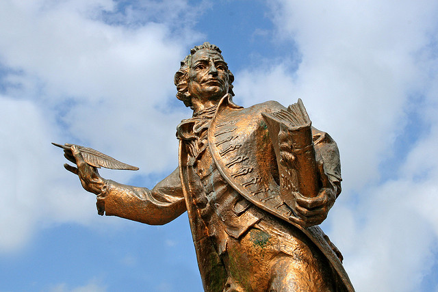 Tom Paine's statue in Thetford, Norfolk (Norfolk Musaums Service)