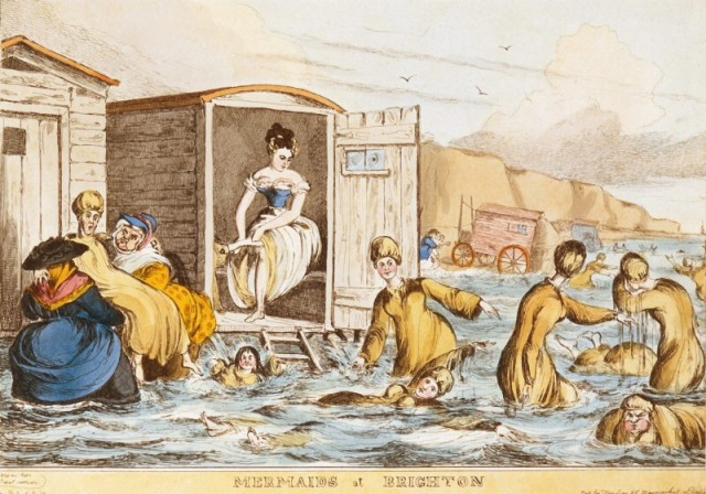 Ladies bathing at Brighton