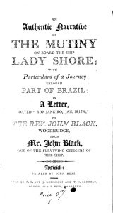 Black's Account of his Adventures