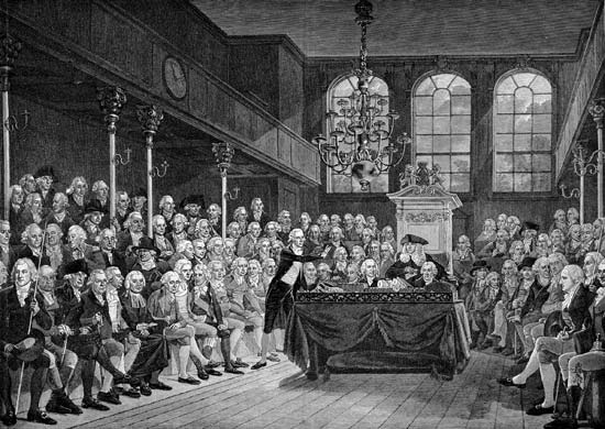 William Pitt addressing the House of Commons
