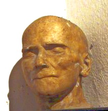 Death mask of Johnson Jex in Letheringsett Church