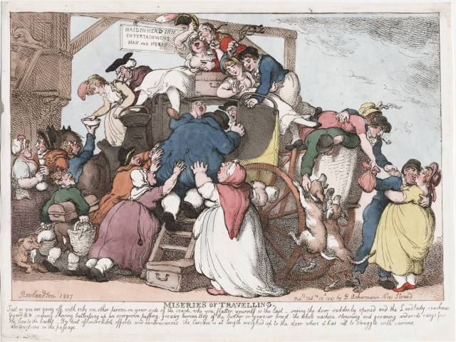 Rowlandson: The Miseries of Travelling.