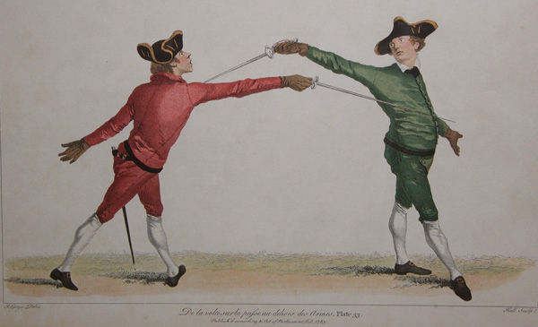 French FencersTheir posture may explain why 'manly' British men didn't become fencing masters!