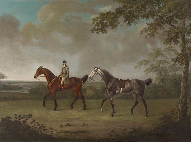 francis_sartorius_i_-_two_horses_with_a_groom_-_walters_372929