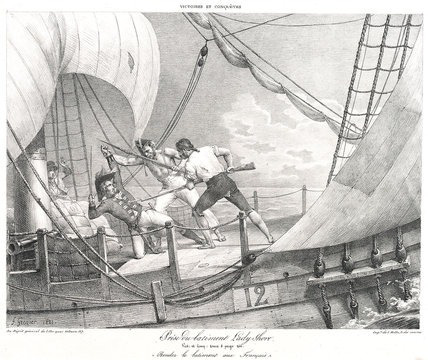 "Death of the Captain of the ""Lady Shore"""