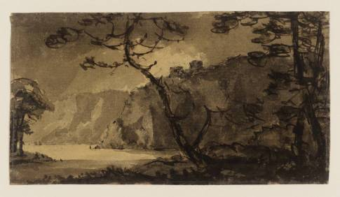 Landscape, Cliffs and Trees null by Rev. William Gilpin 1724-1804