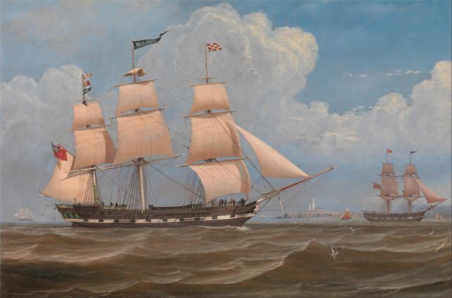 William_Clark_-_The_English_Merchant_Ship_'Malabar'_-_Google_Art_Project