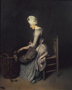 Plucking the Turkey exhibited 1776 by Henry Walton 1746-1813